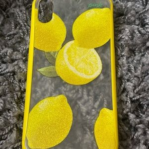 """""""pink"""" iphone x case with lemons"""